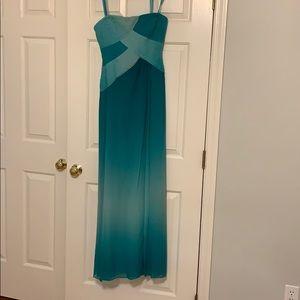 BCBG Maxazria strapless dress size 4 blue-green